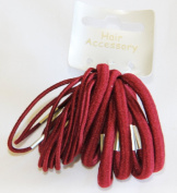 18 Thick and Thin Burgundy Red Hair Elastics Bands Bobbles girls accessory back to school colours