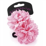 Pair of Gorgeous Pink Flower Small Hair Ponios - Many Colours Available