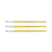 Watercolour Brush Set, Size 1, Camel Hair Blend, Round, 3/Pack - Sold As 1 Pack