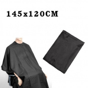 Adult Salon Hair Cut Hairdressing Barbers Cape Cover - Black