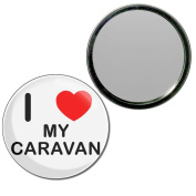I Love My Caravan - 55mm Round Compact Mirror