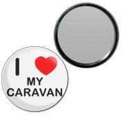 I Love My Caravan - 55mm Round Compact Mirror