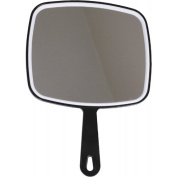 Salon Professional Hairdressing Large Hand Held Mirror Black