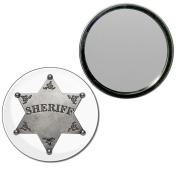 Sheriff Badge - 55mm Round Compact Mirror