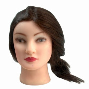 BEIYI® 21-29-7 Beauty 46cm 100% Long Real Dark Brown Human Hair Practise Mannequin Manikin Training Head with Clamp