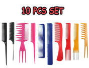 Hairdressing Stylists Barbers Combs 10 Piece Set.