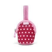 Built NY Double Pacifier Holder Baby Pink Mini Dots