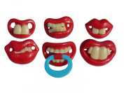 6 Very Funny Baby/toddler Dummies Soothers Pacifiers Fancy Dress Novelty