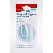 CLIPPASAFE BABY NAIL CLIPPERS AND NAIL FILE SET