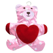 Cherry Pit Pillow with cotton lining HEART BEAR pink