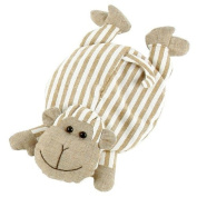 Cherry Pit Pillow with cotton lining LOUIS the monkey