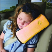 Safety Child car seat belt Strap Soft Shoulder Pad Cover Cushion Yellow