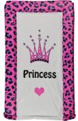 Girls Deluxe PVC Change/Changing Mat - FUCHSIA PINK LEOAPARD PRINT CROWN PRINCESS
