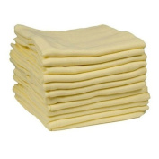 (12 X YELLOW) Premium Quality Baby Muslin Squares 100% Cotton, 72cm X 72cm, Supersoft , Made In EU