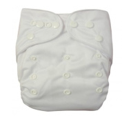 Baby One Size Washable Reusable Cloth Pocket Nappy Nappy, White