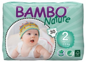 Bambo Mini Nappies (Size 2) 3-6kg, 6-13LB - 6 x packs of 30