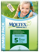 Moltex Nature No1 Eco Nappy Junior Size 5 (11-25 kg/24-55 lb)--Pack of 64 Nappies