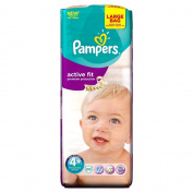 Pampers Active Fit Size 4+ (Maxi +) Large Pack 50 Nappies