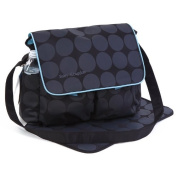 Large Black & Grey Polka Dots Nappy Nappy Changing Bags Set
