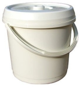 14 Litre Nappy Bucket with Lid - Cream