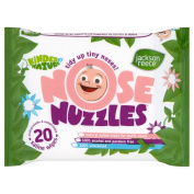 Jackson Reece Nose Nuzzles Wipes--8 x Packs of 20