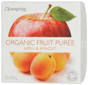 Clearspring Organic Apple and Apricot Fruit Puree 2x100 g