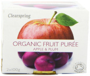 Clearspring Organic Apple and Plum Fruit Puree 2x100g