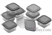 Set of 10 Plastic Food Containers Baby Mini Weaning Freezing Pots Boxes Freezer Storage