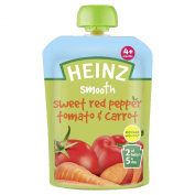 Heinz Sweet Red Pepper Tomato and Carrot Savoury Pouch 4 Months Plus 100 g