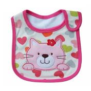 Lovely Cute Cartoon Pattern Toddler Baby Waterproof Saliva Towel Baby Bibs