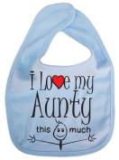 IiE, I love my Aunty this much, Unisex Feeding Bib, Pale Blue