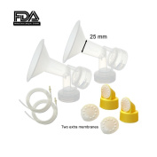 Maymom Breast Pump Kit for Medela Pump in Style Pumps; Include 2 Breast Shields (Comparable to Personal Fit 24mm), 2 Valves, 6 Membranes, & 2 Tubes for Pump-in-style Advanced Sold After July 2006