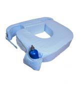 My Brest Friend Twin Breastfeeding Pillow - Blue Stripe