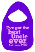 Dirty Fingers, I've got the Best Uncle Ever, Boy Girl Feeding Bib, Purple