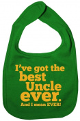 Dirty Fingers, I've got the Best Uncle Ever, Boy Girl Feeding Bib, Green