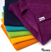 divata Coloured Mini Muslin Squares / Washcloths 38x38 cm - Pack of 6