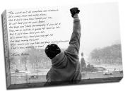 Large Rocky Balboa Hope Qoute Canvas Print Poster 80cm x 50cm A1