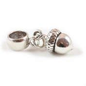 Sterling Silver Acorn Dangle Bead Charm To Fit Pandora Troll Chamilia Biagi European Charm Bracelets