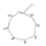 Ankle Chain Anklet with Dolphin Pendants