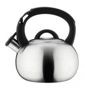 Grunwerg Cafe Ole Stove Top Whistling Kettle 3L Satin Stainless Steel HTK-378S