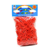 Loom Bandz - Rainbow Colours - Red 600 Count