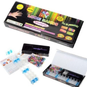 Loom Bands Friendship Bracelet Kit - 600 Latex Free Bands + 24 S-Clips