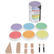 Colorfin PanPastel Pearlescent Artist Pastels Set, 9ml, Yellow, Green, Orange, Blue, Red and Violet, 6-Pack