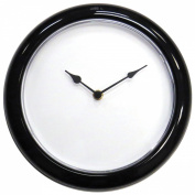 Make A Face 25cm Clock Kit-Black W/Clear Lense