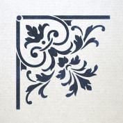 J BOUTIQUE STENCILS Corner Stencil Reusable Template 025 for Wall DIY decor