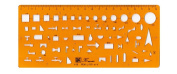 Isometric Piping Template, Drafting Tool - Drainage Template, Flexible Unbreakable Plastic