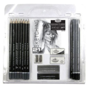 21 Piece Sketch and Drawing Pencil Set - Sketching Art - Royal Langnickel