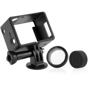 GoPro Camera and BacPac Frame Mount by CamKix - Compatible with GoPro Hero 3 and 3+ - USB, HDMI, and SD Slots Fully Accessible - Light and Compact Housing for Your Action Camera - For Use With LCD and Battery BacPacs - Includes 1 Large Thumbscrew / 1 T ..