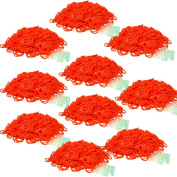 BlueDot Trading 6000-Piece Orange Rubber Bands Kids Craft with Rainbow Do it Yourself Bracelet Kit Refill Pack