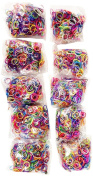 BlueDot Trading 6000-Piece Multicolor Rubber Band Kids Craft with Rainbow Bracelet Kit Refill Pack